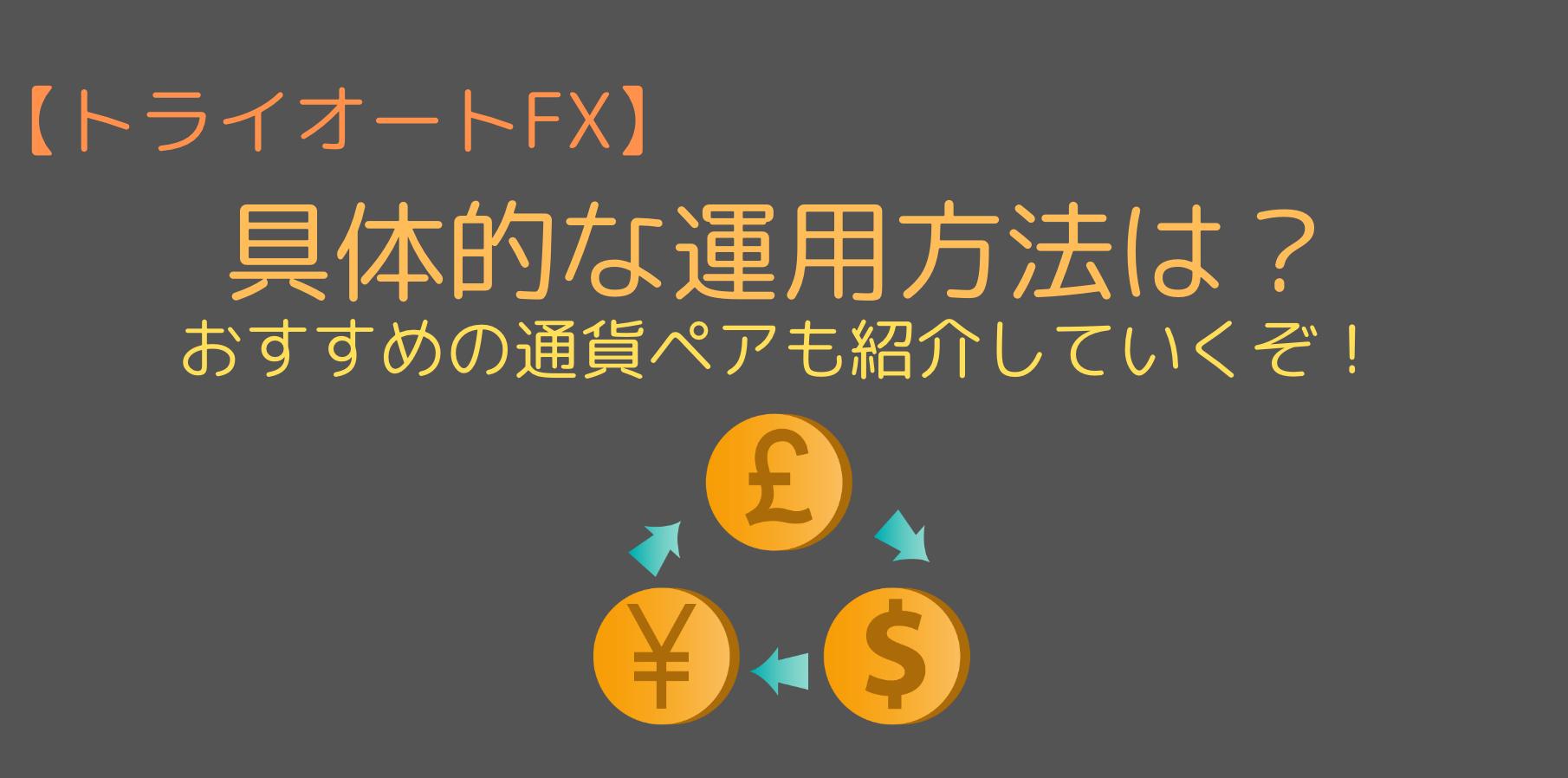 トライオートFXの具体的な運用方法