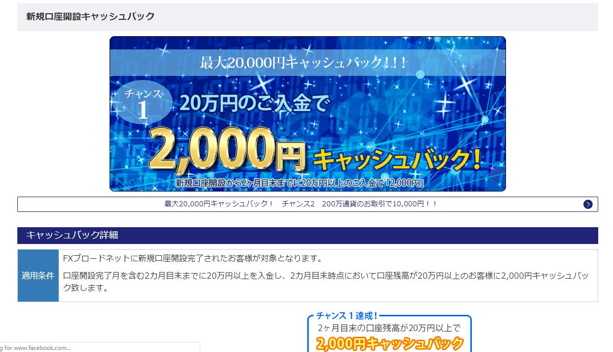 20万円入金キャンペーン
