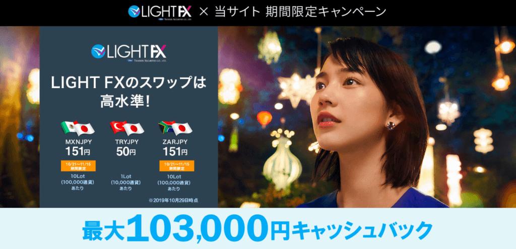 LIGHTFXのキャンペーン