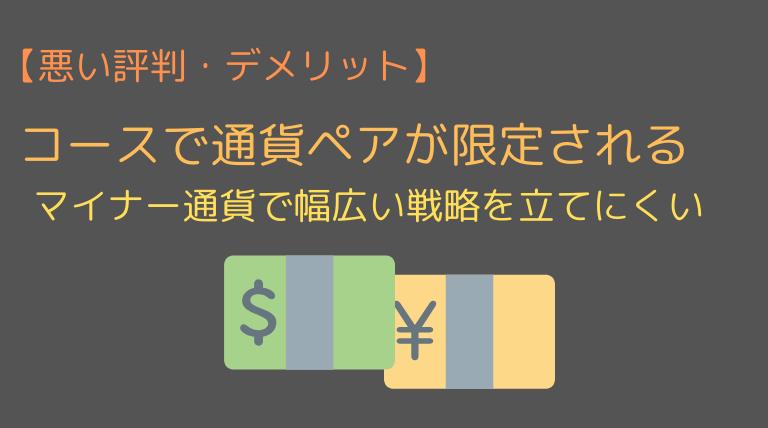 SBI FXαの通貨ペア限定