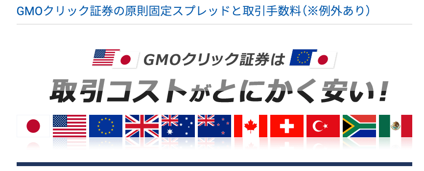 GMOクリック証券スプレッド