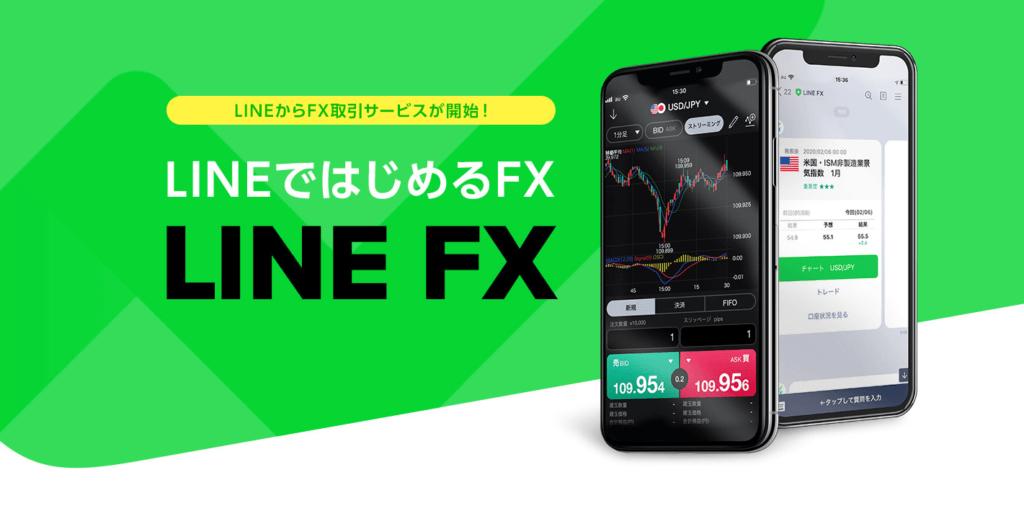 LINE FXのトップページ