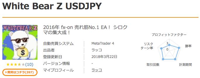 WhiteBear Z V2の購入ページ