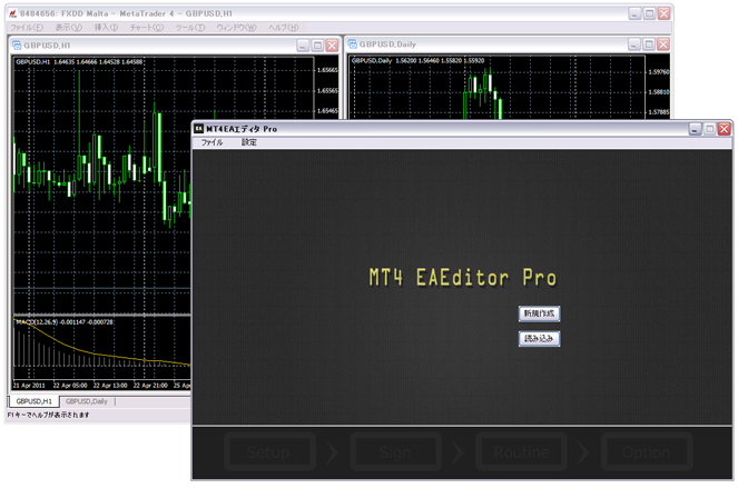 MT4EAエディターの画面