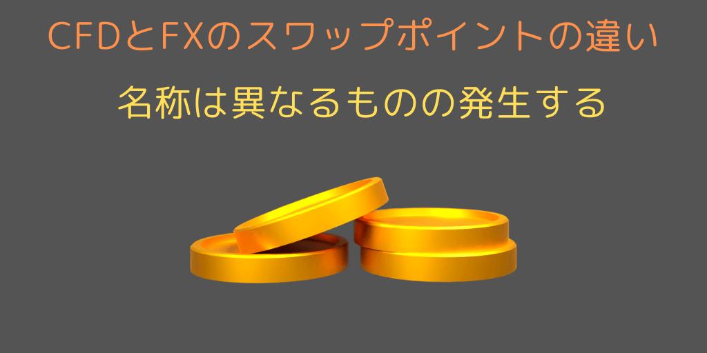 【CFD or FX】スワップポイントの違い