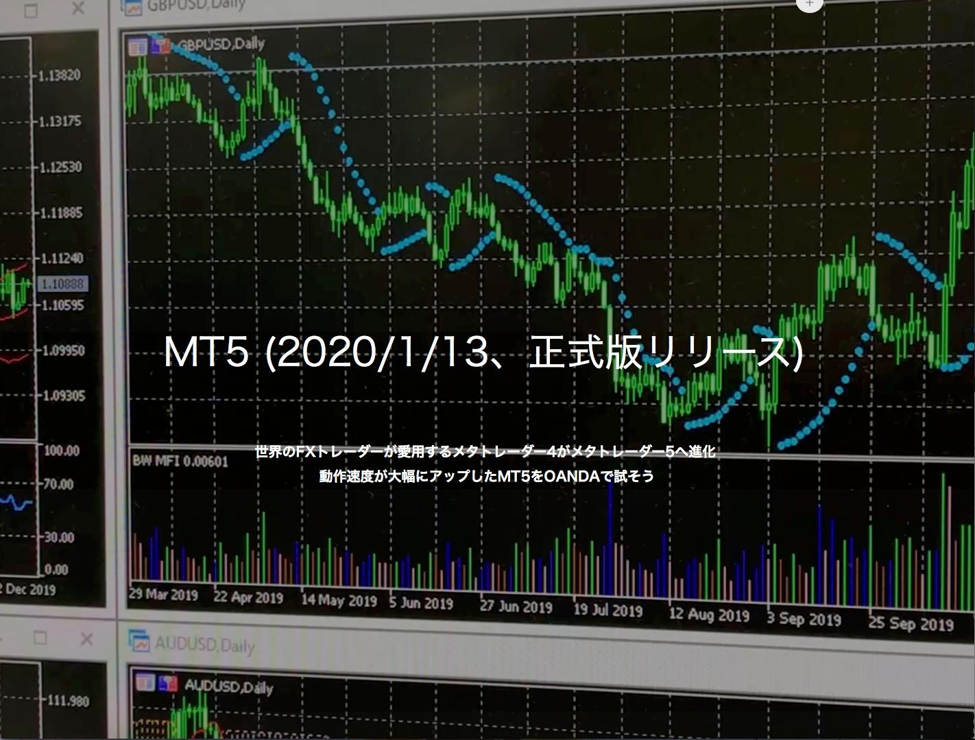 OANDA JAPANのMT5