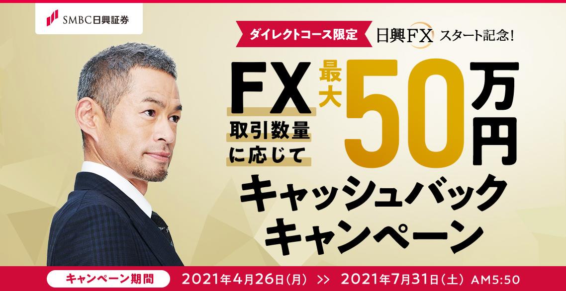 日興FX キャッシュバックキャンペーン