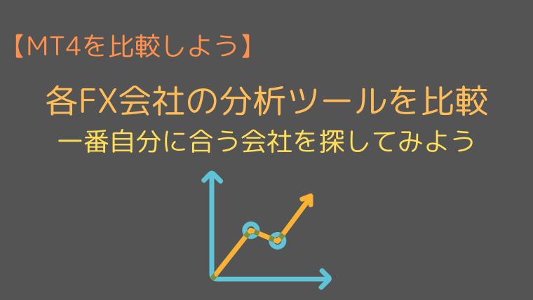 MT4の分析ツールを比較