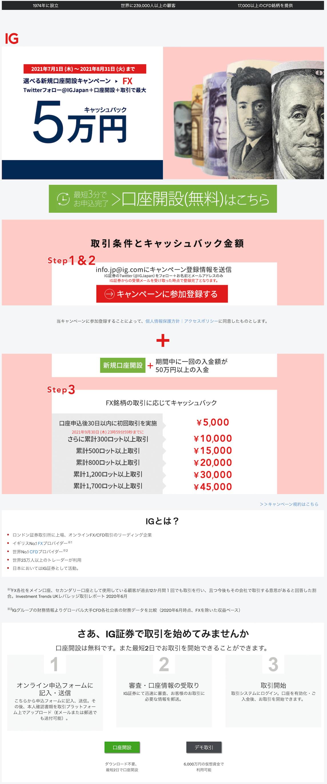 IG証券top