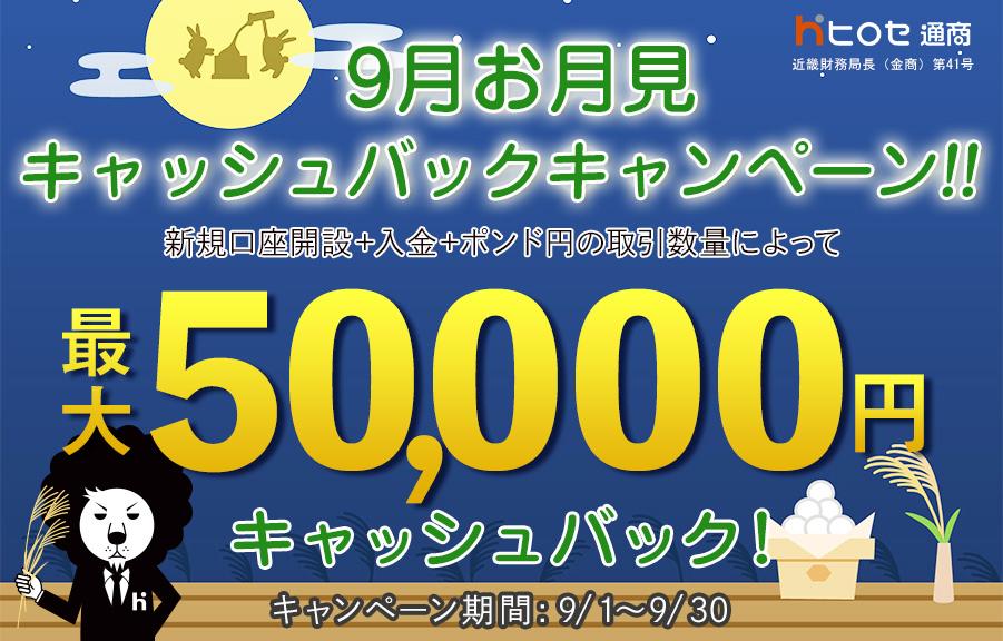 ヒロセ通商 キャンペーン